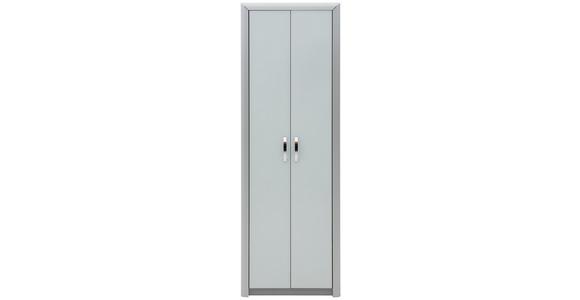 GARDEROBENSCHRANK 66/195/33 cm  - Chromfarben/Alufarben, Design, Holzwerkstoff/Metall (66/195/33cm) - Dieter Knoll