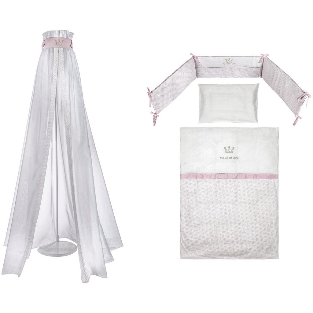 Gitterbett-Set für Mädchen
