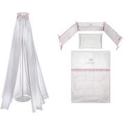 SET ZA POSTELJICO CROWN GIRL - roza/bela, Basics, tekstil - Patinio