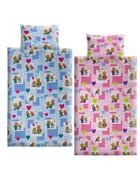 OTROŠKA POSTELJNINA POS085 - roza, Basics, tekstil
