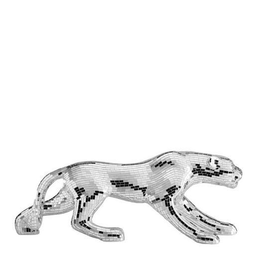 DEKOLEOPARD - Silberfarben, Basics, Glas (106,5/28,5/39,5cm) - Ambia Home