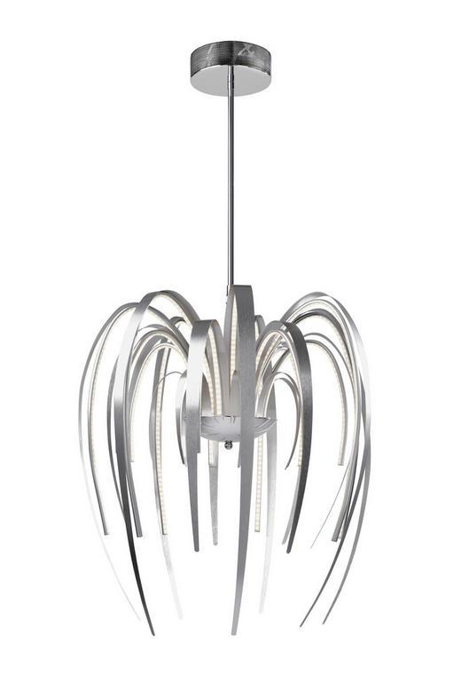 LED-HÄNGELEUCHTE - Alufarben, MODERN, Kunststoff/Metall (48/150cm)