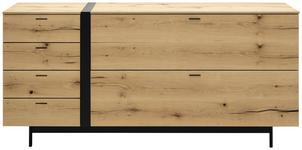 LOWBOARD 184,8/86,5/49,5 cm  - Eichefarben/Anthrazit, Natur, Holz/Holzwerkstoff (184,8/86,5/49,5cm) - Moderano