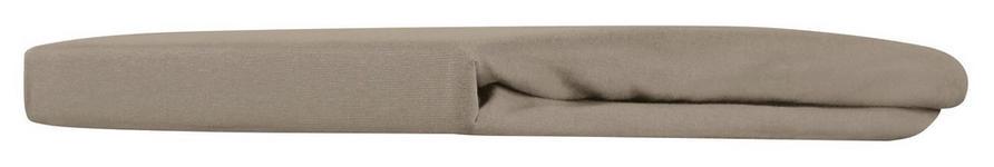 Spannleintuch Mathilda - Taupe, KONVENTIONELL, Textil (100/200/28cm) - Ombra