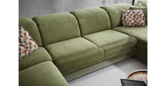 WOHNLANDSCHAFT in Textil Olivgrün - Olivgrün, Natur, Holz/Textil (261/373/187cm) - Dieter Knoll