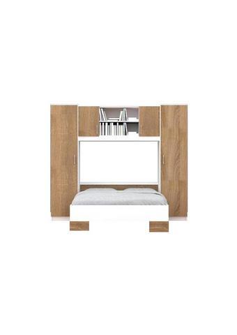 SPAVAĆA SOBA - bijela/hrast Sonoma, Design, drvni materijal (255/215/204cm)