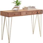 KONSOLE Akazie massiv Akaziefarben, Bronzefarben - Bronzefarben/Akaziefarben, Trend, Holz/Metall (115/78/42cm) - Ambia Home