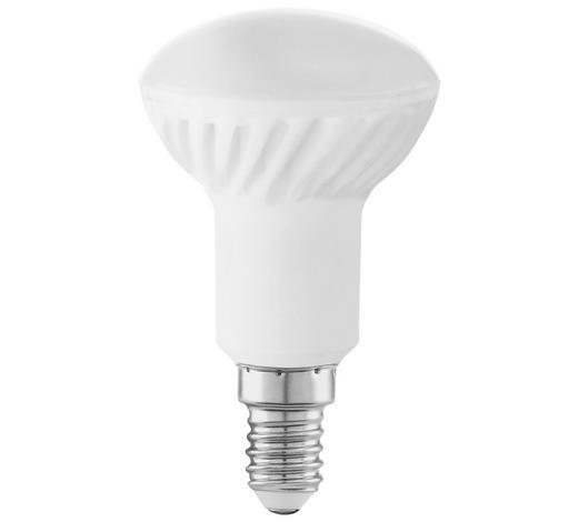 LED-Leuchtmittel E14  - Weiß, Basics, Glas (8,5cm) - Homeware