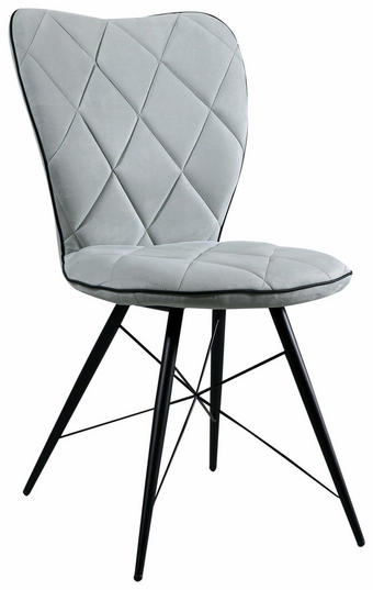 STOLICA - svijetlo zelena/crna, Design, metal/tekstil (49/90/61cm) - Hom`in