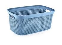 AUFBEWAHRUNGSBOX 27,5/19,4/13,6 cm  - Blau, Design, Kunststoff (27,5/19,4/13,6cm) - Homeware