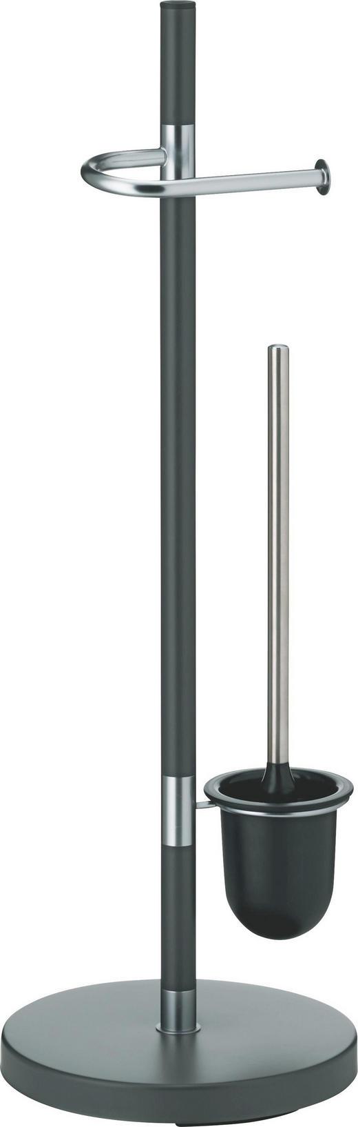 WC-BÜRSTENGARNITUR - Anthrazit, Basics, Metall (25/76,5cm)