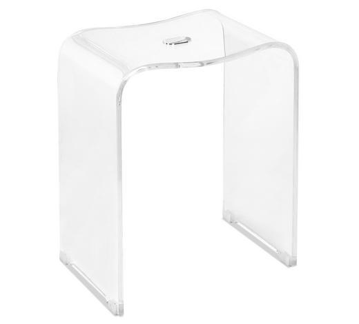 BADHOCKER Kunststoff  - Transparent, Basics, Kunststoff (40/47/27,5cm) - Sadena