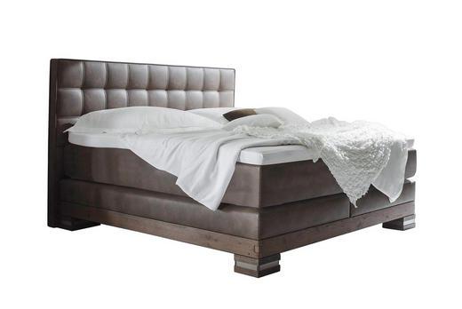BOXSPRINGBETT  in Braun, Eichefarben - Eichefarben/Braun, KONVENTIONELL, Holz/Textil (160/220cm) - Hasena
