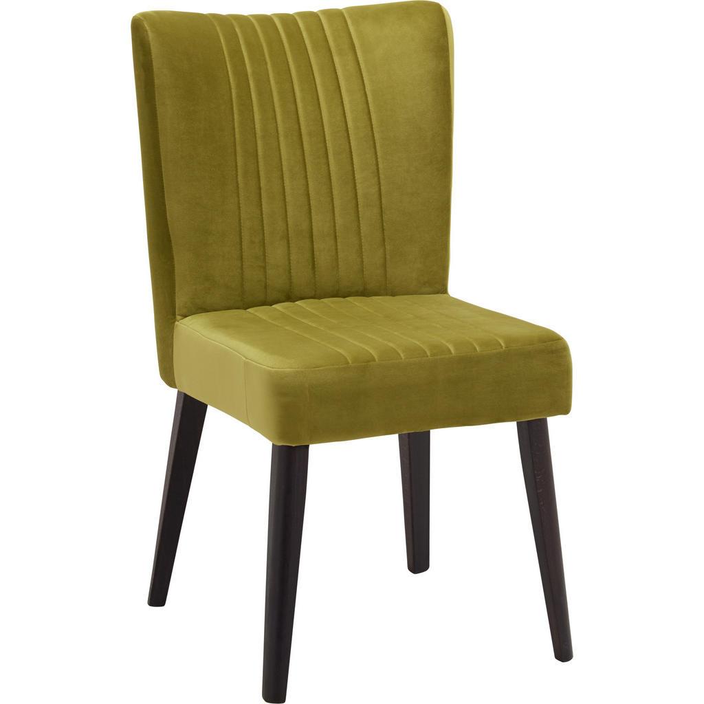 Image of Ambia Home Stuhl in holz, textil grün, dunkelbraun , Jan , massiv , Uni , 53x92x61 cm , lackiert,Echtholz , 002229010504