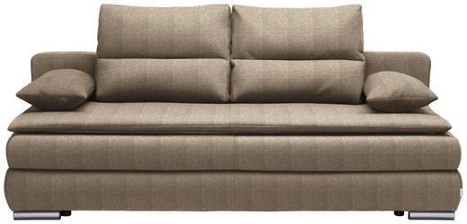 SCHLAFSOFA Webstoff Braun - Silberfarben/Braun, KONVENTIONELL, Kunststoff/Textil (207/94/90cm) - Venda