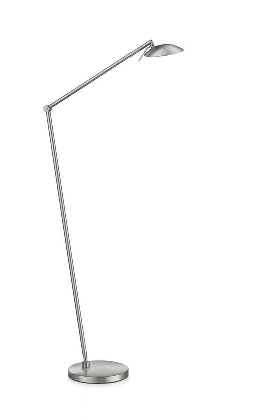 STEHLEUCHTE - Nickelfarben, Design, Metall (110cm)