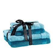 FROTTIERSET 4-teilig - Blau/Petrol, Design, Textil - VOSSEN