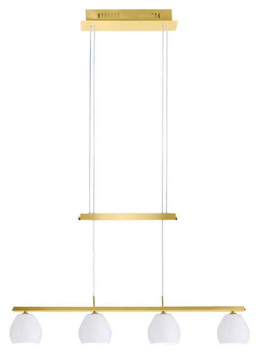 LED-HÄNGELEUCHTE - Weiß, LIFESTYLE, Glas/Metall (91/14/24cm)