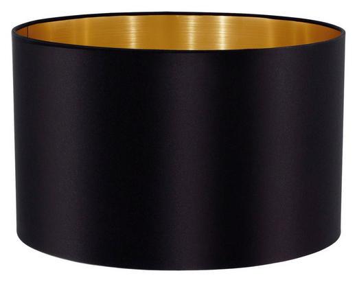 LEUCHTENSCHIRM  Goldfarben, Schwarz  Textil  E27 - Goldfarben/Schwarz, Design, Textil (23/14cm) - MARAMA