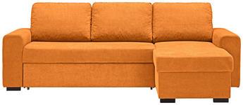 WOHNLANDSCHAFT in Textil Orange  - Schwarz/Orange, Design, Textil (245/160cm) - Xora