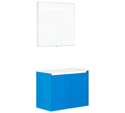 BADEZIMMER - Blau/Weiß, Design, Glas/Holzwerkstoff (70cm) - Dieter Knoll
