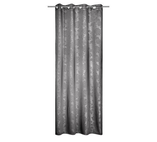 ZAVJESA S RINGOVIMA - boje srebra, Konvencionalno, tekstil (135/245cm) - Venda