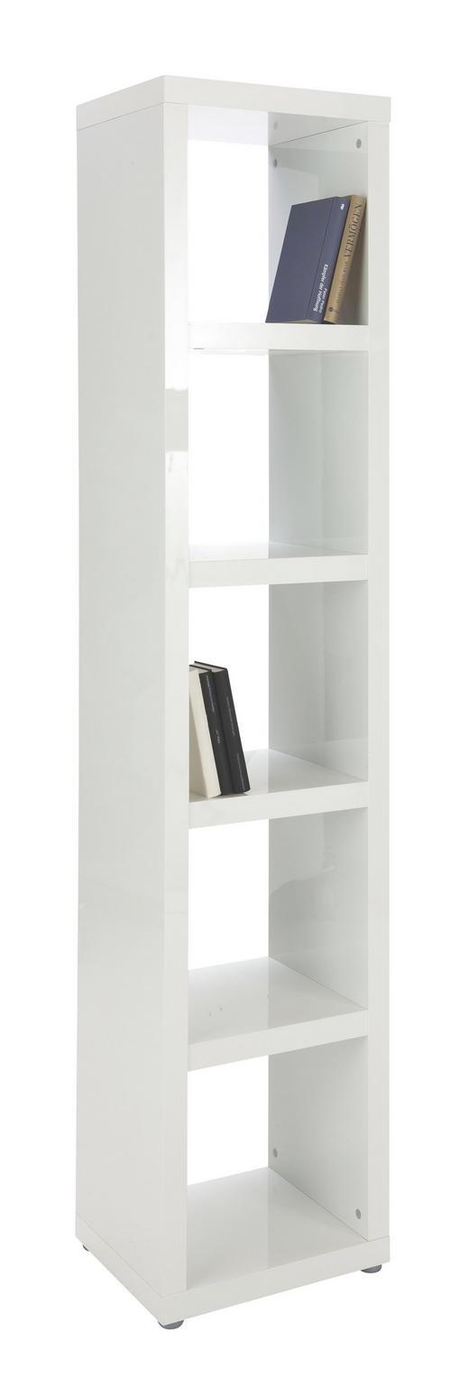 REGAL Weiß - Alufarben/Weiß, Design, Holzwerkstoff/Kunststoff (44/203/35cm) - XORA