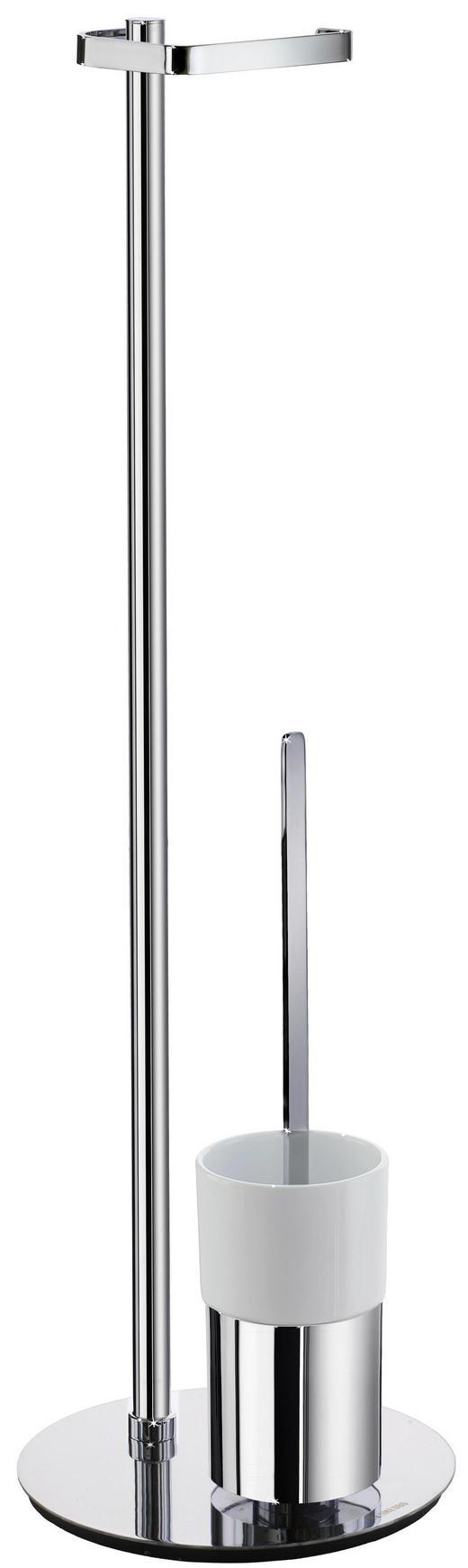 TOILETTENPAPIERHALTER - Chromfarben/Weiß, Basics, Keramik/Metall (23/78cm)