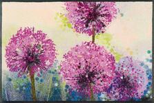 FUßMATTE 50/75 cm Blume Multicolor, Violett  - Violett/Multicolor, Basics, Kunststoff/Textil (50/75cm) - Esposa