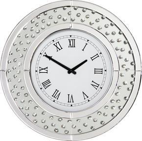 VÄGGKLOCKA - silver, Design, glas/träbaserade material (50/50/4,5cm) - Xora