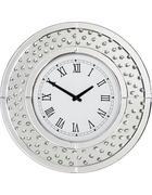 STENSKA URA - srebrna, Design, steklo/leseni material (50/50/4,5cm) - Xora