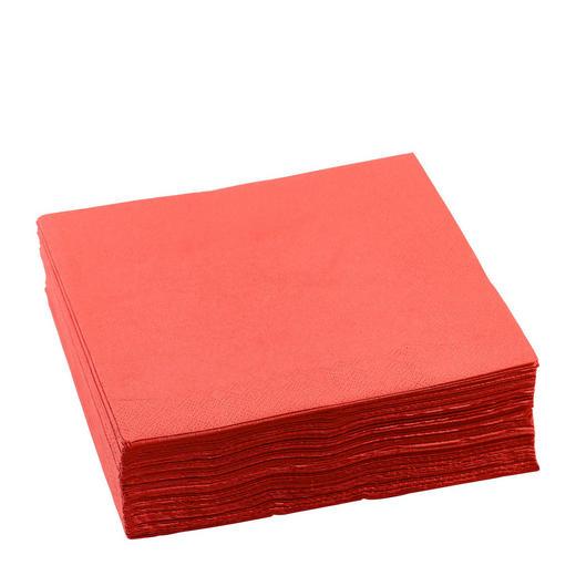 Serviette, 50er Pack  Papier  Rot  40/40 cm - Rot, Basics, Papier (40/40cm) - Boxxx