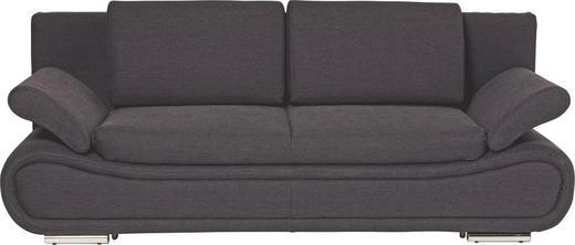 SCHLAFSOFA Dunkelgrau - Chromfarben/Dunkelgrau, Design, Textil/Metall (210/84/90cm) - NOVEL