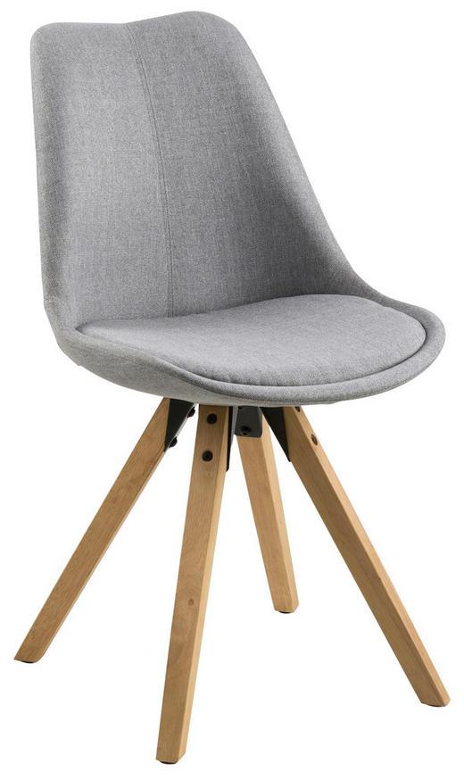 Stuhl in Holz, Kunststoff, Textil Grau - Eichefarben/Grau, Design, Holz/Kunststoff (48/82/56cm) - Carryhome
