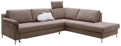 WOHNLANDSCHAFT Mikrofaser - Hellbraun, Design, Textil/Metall (270/233cm) - Dieter Knoll