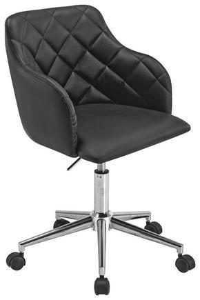 SNURRSTOL - kromfärg/svart, Design, metall/textil (54/77-89/56cm)