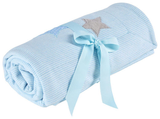 BABYDECKE 75/95/ cm - Blau, Basics, Textil (75/95/cm) - Patinio
