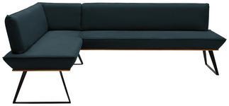 ECKBANK 183/203 cm  in Schwarz, Eichefarben, Petrol  - Eichefarben/Petrol, Design, Holz/Textil (183/203cm) - Voleo