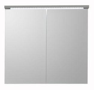 ORMARIĆ SA OGLEDALOM - Siva, Dizajnerski, Staklo/Pločasti materijal (80/77/23cm) - Boxxx