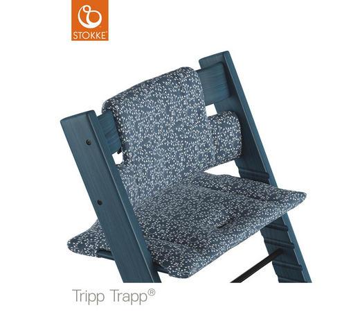 HOCHSTUHLEINLAGE  - Blau, Basics, Textil (28/21/7cm) - Stokke