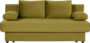 SCHLAFSOFA in Textil Gelb, Goldfarben  - Gelb/Goldfarben, Design, Textil (200/90/100cm) - Novel