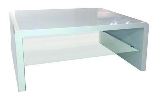 KLUB STOLIĆ - bijela, Design, staklo/drvni materijal (90/40/60cm) - XORA