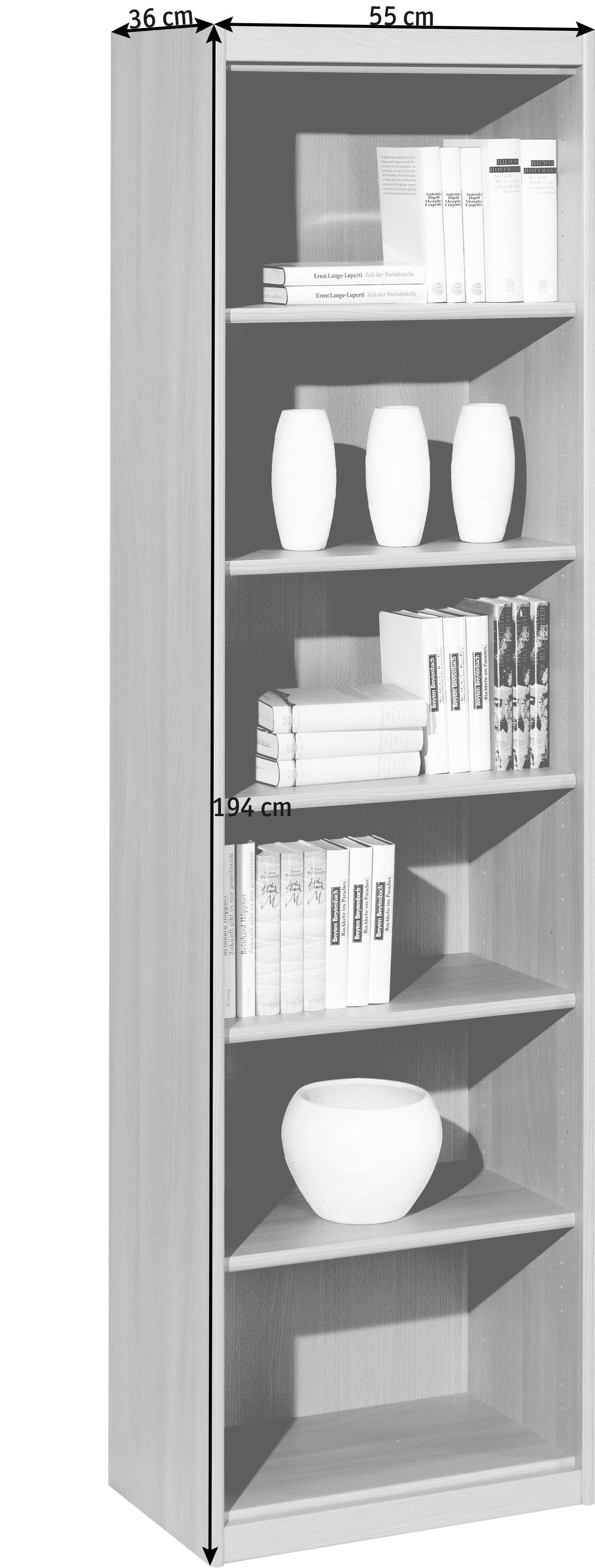 REGAL in 55/194/36 cm Buchefarben - Buchefarben, Design, Holzwerkstoff (55/194/36cm) - CS SCHMAL