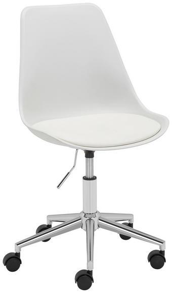 JUGENDDREHSTUHL - Chromfarben/Weiß, Basics, Kunststoff/Textil (57,5/82-92/47cm) - CARRYHOME