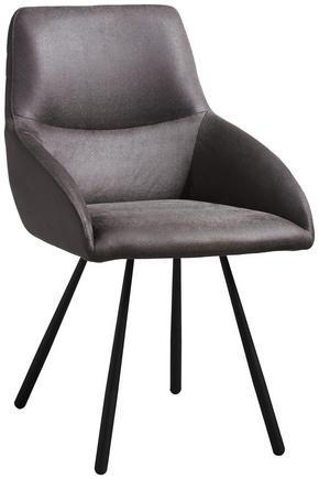 STOL - grå/svart, Design, metall/textil (52 88 61,50cm) - Novel