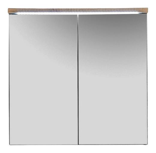 SPIEGELSCHRANK Eichefarben - Eichefarben, Design, Glas/Holzwerkstoff (80/77/23cm) - Xora