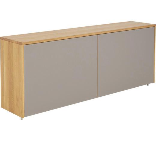 ANRICHTE in mehrschichtige Massivholzplatte (Tischlerplatte) Erle Taupe, Erlefarben - Taupe/Erlefarben, Design, Glas/Holz (200,2/79,5/42cm) - Team 7