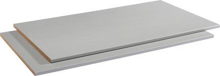 EINLEGEBODENSET 2-teilig für 100er Elemente Silberfarben  - Silberfarben, Design (97,1/1,8/55cm) - Hom`in