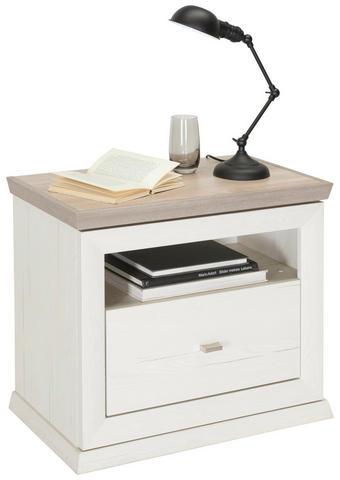 NOČNÍ STOLEK, šedá, bílá - bílá/šedá, Lifestyle, kov/kompozitní dřevo (62,8/55/38cm) - Hom`in