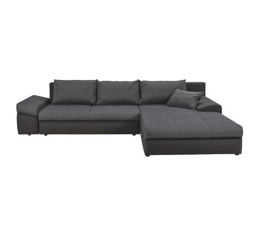ecksofa webstoff bettkasten rckenkissen schlaffunktion zierkissen anthrazitschwarz design - Eckschlafsofa Die Praktischen Sofa Fur Ihren Komfort